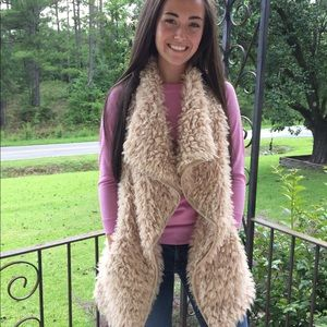 Camel Fur Vest